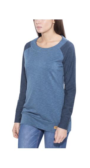 Elkline Auwacka - T-shirt manches longues Femme - bleu